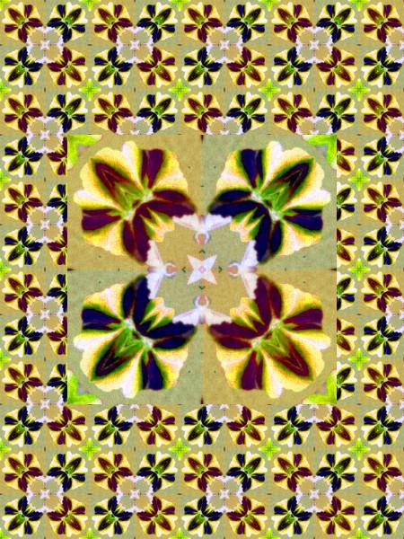 Orchidées pensées [2012] (Création et conception graphique de Didier Desmet) [Motif] [Pattern] [Motifs] [Patterns] [Artiste Infirme Moteur Cérébral] [Infirmité Motrice Cérébrale] [IMC] [Paralysie Cérébrale] [Cerebral Palsy] [Handicap]