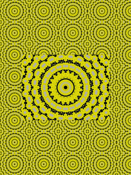 Pétales jaunes [2012] (Création et conception graphique de Didier Desmet) [Motif] [Pattern] [Motifs] [Patterns] [Artiste Infirme Moteur Cérébral] [Infirmité Motrice Cérébrale] [IMC] [Paralysie Cérébrale] [Cerebral Palsy] [Handicap]