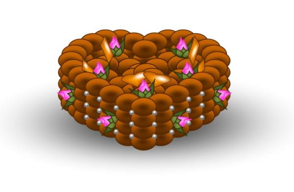 Pièce montée Coeur mariage pour La Marmite Rusée [2019] (Création et conception graphique de Didier Desmet) [Artiste Infirme Moteur Cérébral] [Infirmité Motrice Cérébrale] [IMC] [Paralysie Cérébrale] [Cerebral Palsy] [Handicap] [Kawaii]