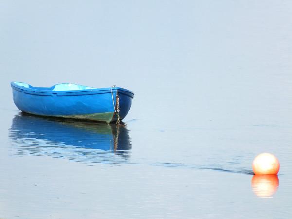 Saint-Valery-sur-Somme - Le bateau bleu et la bouée rouge 4 - La Somme (Somme - 80230) [2016] (Photo de Didier Desmet) [Artiste Infirme Moteur Cérébral] [Infirmité Motrice Cérébrale] [IMC] [Paralysie Cérébrale] [Cerebral Palsy] [Handicap]
