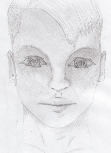 Sérénité [2013] (Dessin de Didier Desmet) [Artiste Infirme Moteur Cérébral] [Infirmité Motrice Cérébrale] [IMC] [Paralysie Cérébrale] [Cerebral Palsy] [Handicap]