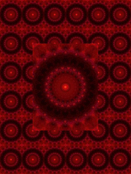 Verre rouge : Ombre et lumière #5 [2012] (Création et conception graphique de Didier Desmet) [Motif] [Pattern] [Motifs] [Patterns] [Artiste Infirme Moteur Cérébral] [Infirmité Motrice Cérébrale] [IMC] [Paralysie Cérébrale] [Cerebral Palsy] [Handicap]