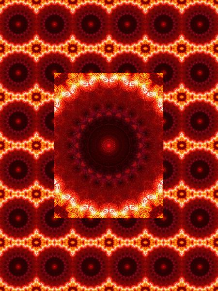 Verre rouge : Ombre et lumière #7 [2012] (Création et conception graphique de Didier Desmet) [Motif] [Pattern] [Motifs] [Patterns] [Artiste Infirme Moteur Cérébral] [Infirmité Motrice Cérébrale] [IMC] [Paralysie Cérébrale] [Cerebral Palsy] [Handicap]